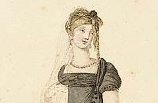 "Detail from fashion plate ""London fashions as worn December 1806"""