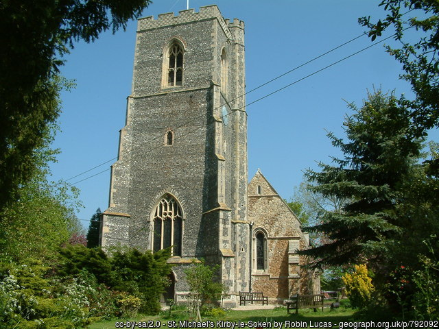 The church at Kirby-le-Soken