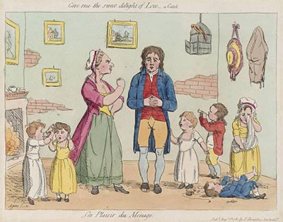 Gillray's Les Plaisir (sic) du Menage 1781