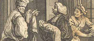 Tristram Shandy's baptism, by Hogarth