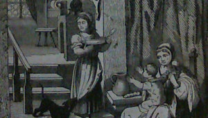 """Detail from """"The Hours of the Night"""" by Freeman. Illustrated Exhibitor & Magazine of Art 1851."""