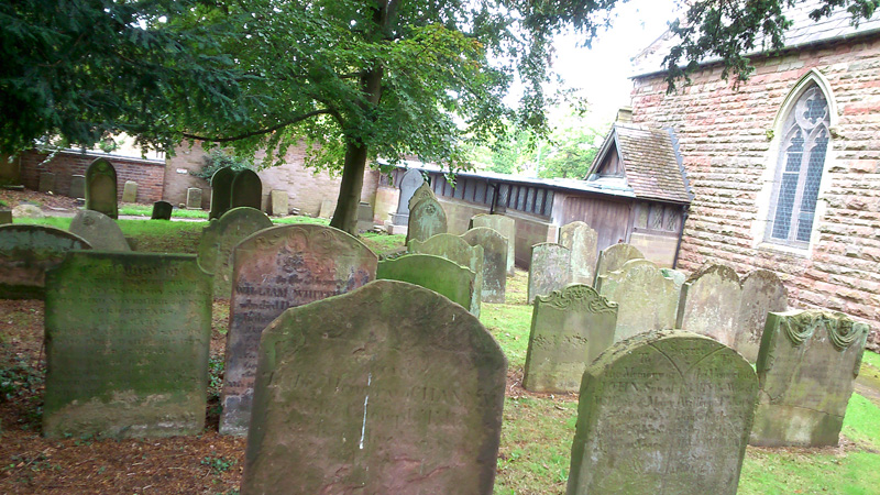 18th century headstones at Harborne St. Peter's