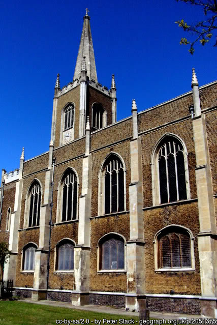 The large church of Harwich St Nicholas