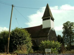 The church at Wakes Colne.