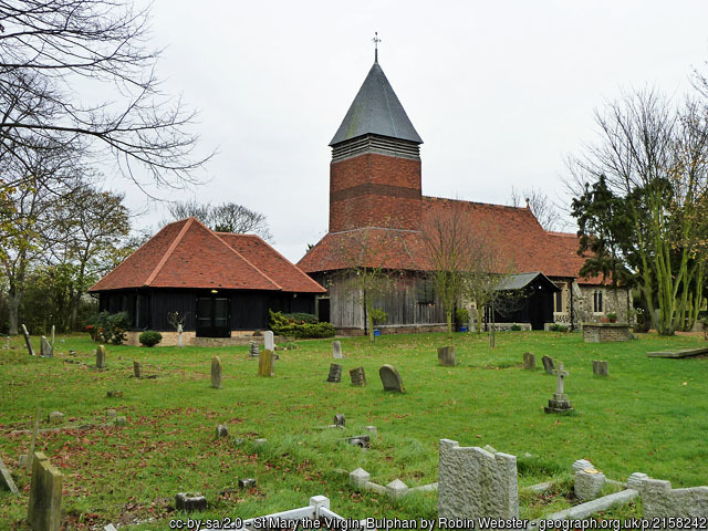 The church and churchyard of St Mary the Virgin, Bulphan.
