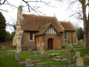 The tiny church at Frinton.