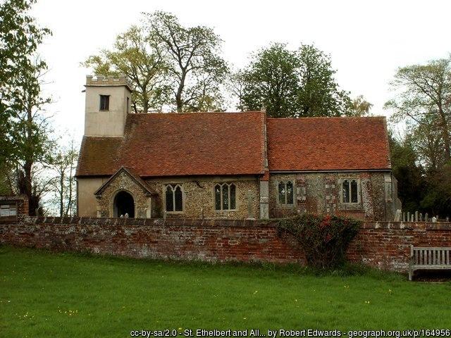 The church at Belchamp Otten.