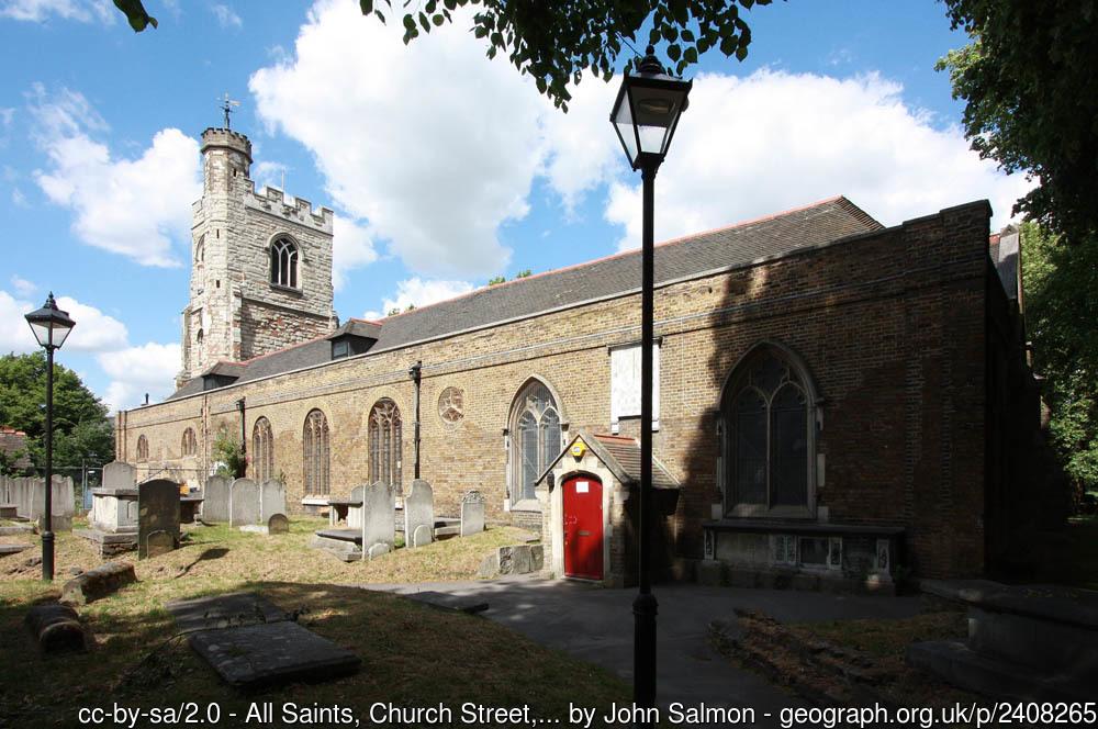The church of All Saints, West Ham